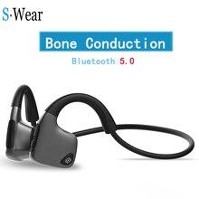 Originale cuffie Bluetooth 5.0 di Conduzione Ossea Cuffie Wireless Sport auricolari Auricolari Vivavoce Trasporto di Goccia di Sostegno
