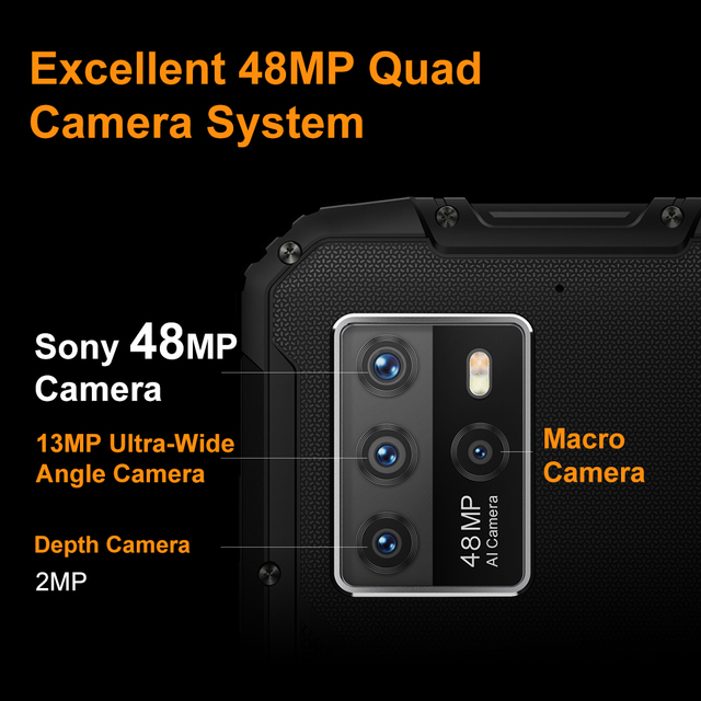 "OUKITEL WP10 5G Rugged SmartPhone Global Version 8GB+128GB 8000mAh Mobile Phone 6.67"" FHD+ MeditaTek 48MP Quad Camera Phone 4"
