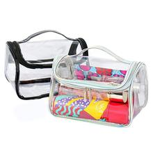 Portable Clear Makeup Cosmetic Bag PVC Waterproof Transparent Travel Storage Pouch Cosmetics Toiletry Kit Bags Fashion Organizer hot sale fashion female cosmetic bag beauty case women clear waterproof storage makeup bags travel portable clutch fashion tools
