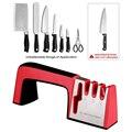 Профессиональная точилка для ножей 4 в 1  кухонные ножницы для заточки камня  шлифовальный станок  ножи  вольфрамовые алмазные керамические ...