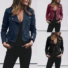 2021 Новый размера плюс куртка женское классическое пальто короткие бомбардировщик куртка сплошная черный, красный, женские куртки пальто ...