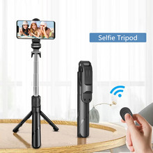 2021 NEW Bluetooth Wireless Selfie Stick Mini Tripod Extendable Monopod with Remote shutter For IOS Android Smart phone