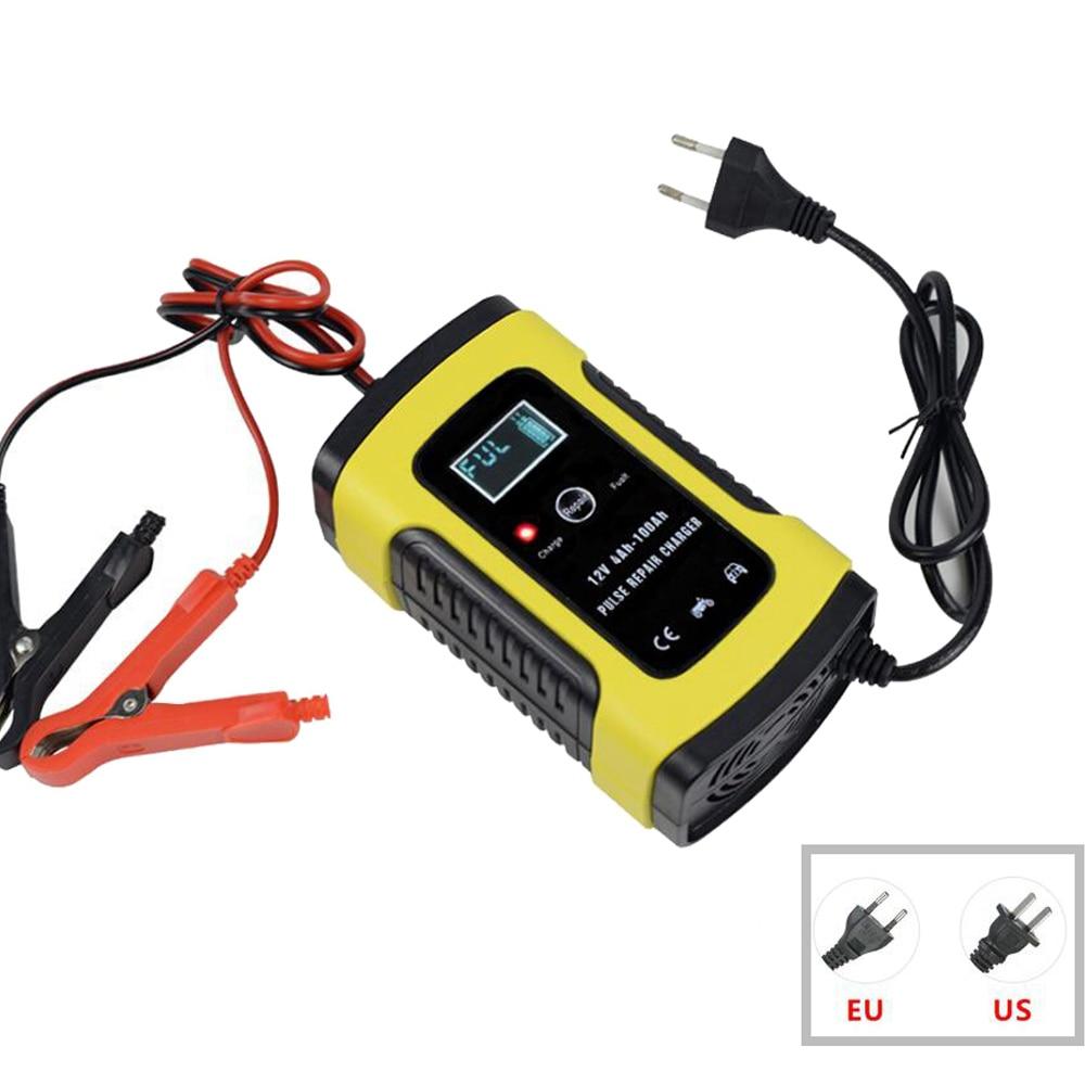 12V 6A Intelligent Voiture Moto Batterie Chargeur Pour Auto Moto Plomb Acide AGM Gel VRLA De Charge Intelligent 6A 12V Numérique D'affichage À CRISTAUX LIQUIDES