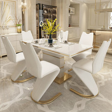 Dining-Chair Table-Set Modern Home with Sea Transportation 2pieces Z-Shape 2pieces