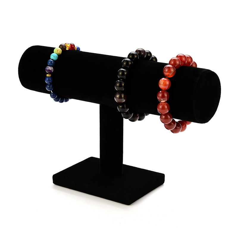 Portable Velvet/PU Leather Bracelet Bangle Necklace Display Stand Holder Watch Jewelry Organizer