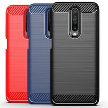 Luxury Case for Xiaomi Redmi K30 Pro Zoom Cover Carbon Fiber Texture Brushed Case for Redmi Pco X2 Poco F2 Pro phone Cover