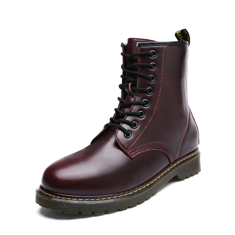 Men Boots For Martin Boots Genuine Leather Ankle Boots Dr Motorcycle Boots Winter Shoes Men Shoes Male Shoes Adult YGd-0598
