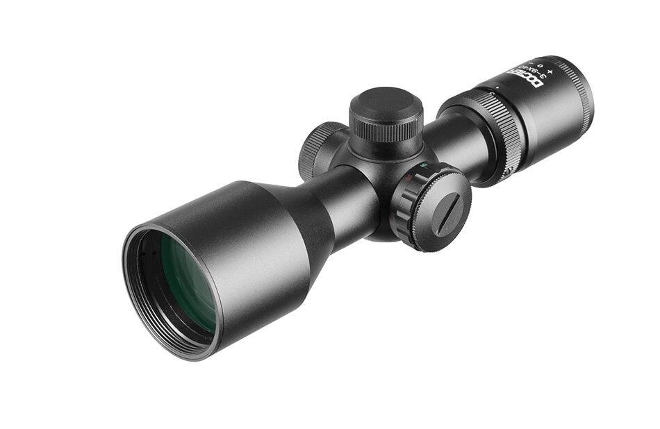 Tactical 3-9x40 compact scope mildot rangefinder retículo
