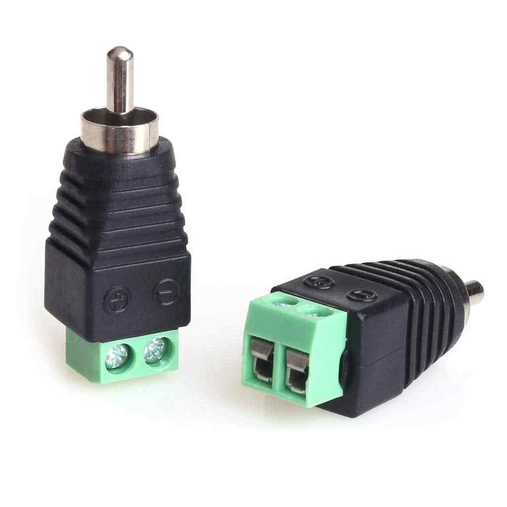 10 Pcs 2 Pcs BNC Konektor Pria RCA Plug JR-R55 dengan Audio untuk Terminal Block untuk Kamera CCTV AHD Kamera CVI Kamera TVI