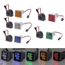 AC Voltmeter 0-100A 22mm Digital Indic Amp 60-500V 20-75hz Signal-Light Current-Frequency-Panel
