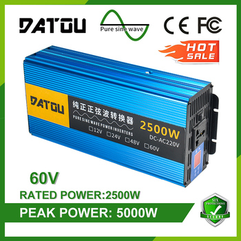 5000W Car Inverter DC 60V to AC 220V Modified Sine Wave Power Adapter Voltage Converter Car Power Inverter Auto Accessories 1500w dc 12v to ac 220v 50hz modified wave power inverter 5v usb port