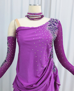 Image 2 - Latin Dance Skirt Adult High Quality Stage Tango Rumba Samba Costume Ladys Latin Competition Dancing Dress