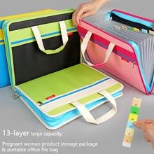 13th floor Durable book A4 document bag Pregnancy report file folder holder bag with handle zip closure handbag Organ bag zip closure canvas tote bag