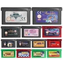 32 بت لعبة فيديو خرطوشة بطاقة وحدة التحكم Spyro/سونيك سلسلة الولايات المتحدة/الاتحاد الأوروبي الإصدار لنينتندو GBA