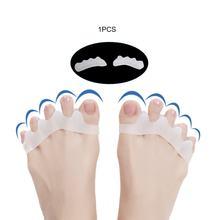 1 par de silicone dedo do pé protetor toe separadores stretchers straightener bunion protetor alívio da dor cuidados com os pés
