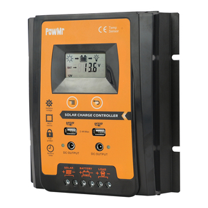 Image 3 - 30A 50A 70A MPPT PWM Solar Charge Controller 12V 24V Dual USB Solar Regulator with Big LCD IP32 PV Battery Controller Load Timer
