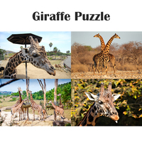 1000Pcs Wooden 3D Giraffe Animals Puzzle Jigsaw Baby Learning Game Toys Preschool Puzzles Intelligence Children Educational Toy