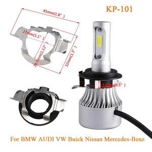Image 2 - Partol H7 LED מתאם H7 הנורה שקע התמך קליפ בסיס עבור Kia BMW אאודי A3 A4 פולקסווגן גולף ניסן מרצדס בן Hyunda פורד