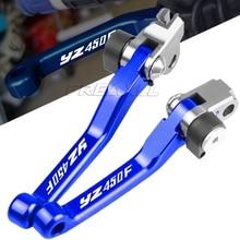 For Yamaha YZ450F YZ 450F Motorbike CNC Handle Folding Brake Clutch Lever 2009 2010 2011 2012 2013 2014 2015 2016 2017 2018 2019