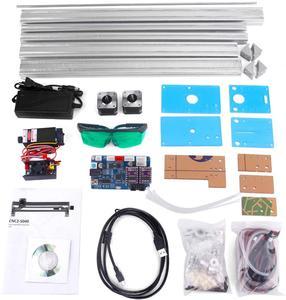 Image 5 - Área de trabalho 40cm x 50cm,2500mw/5500mw/15w máquina do cnc do laser, desktop diy máquina de gravura a laser violeta diy mini impressora a laser