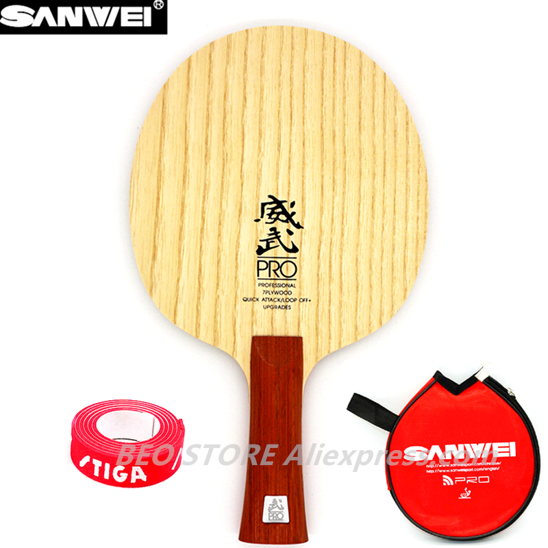 SANWEI V5 PRO Table Tennis Blade Professional 7 Plywood Quicky Attack+ Loop OFF+ Ping Pong Racket Bat Paddle