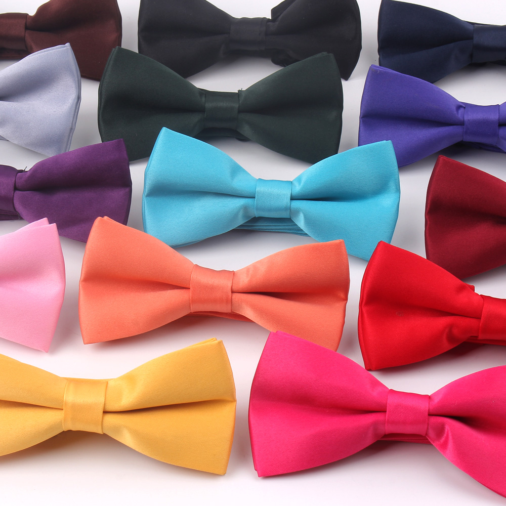 Fashion Solid Bow Tie For Men Women Classic Bowtie For Business Wedding Bowknot Adult Mens Bowties Cravats Red Purple Tie