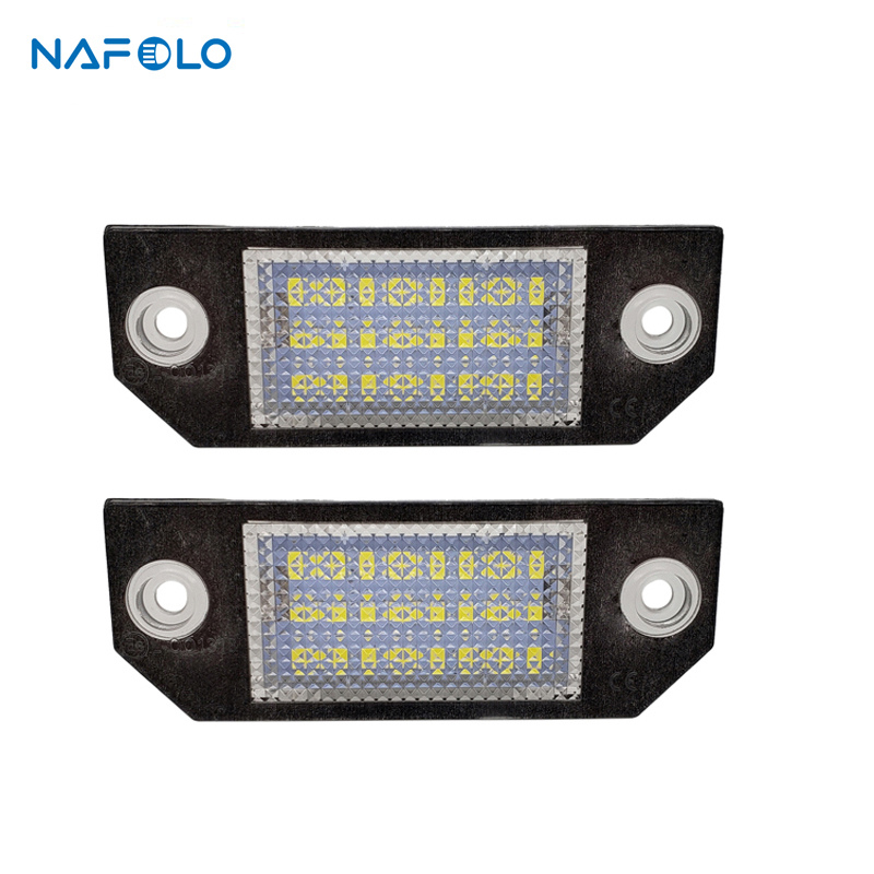 Car LED License Number Plate Light Lamp For Ford Focus 2 C-Max