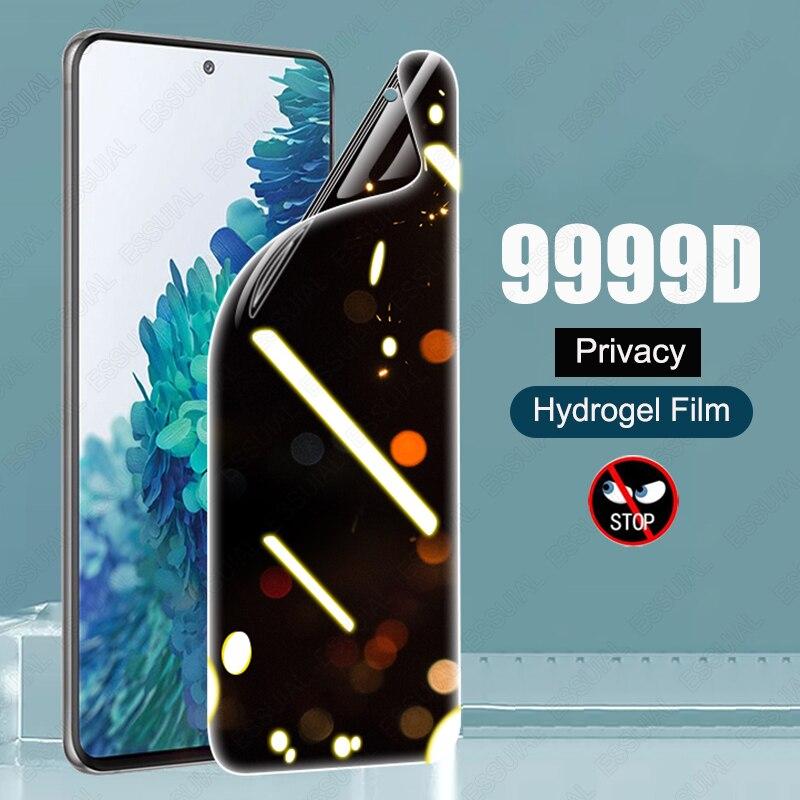 Антишпионская Гидрогелевая пленка для конфиденциальности для Samsung Galaxy S21, S20, S10, S8, S9 Plus, Защита экрана для Samsung Note 20, 10 Plus, 8, 9, S20FE