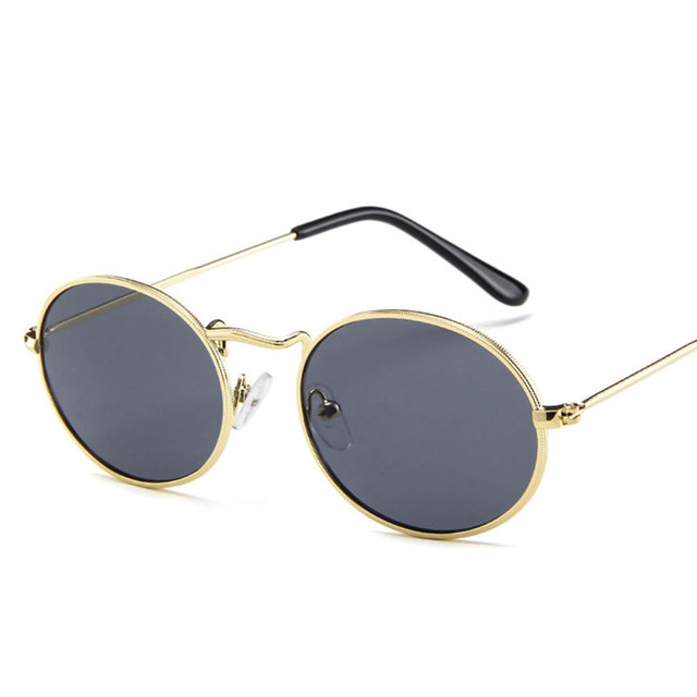DYTYMJ Retro Alloy Sunglasses Women Metal Round Sunglasses Women Vintage Oval Sun Glasses for Men Luxury Designer Gafas De Sol 2