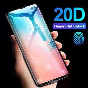 Image 1 - 3D 20D Pieno Curvo Copertura In Vetro Temperato per Samsung Galaxy S10E S10 5G S9 S8 Più S7 Bordo Nota 8 9 A8 2018 Pellicola Della Protezione Dello Schermo