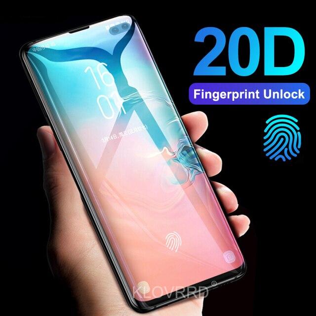 3D 20D Pieno Curvo Copertura In Vetro Temperato per Samsung Galaxy S10E S10 5G S9 S8 Più S7 Bordo Nota 8 9 A8 2018 Pellicola Della Protezione Dello Schermo