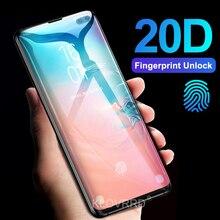 3D 20D 전체 곡선 커버 강화 유리 삼성 갤럭시 S10E S10 5G S9 S8 플러스 S7 가장자리 참고 8 9 A8 2018 화면 보호 필름