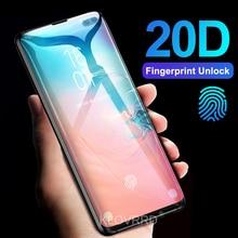 Protector de pantalla de vidrio templado para Samsung Galaxy, Protector de pantalla con película curvada completa 3D 20D para Samsung Galaxy S10E S10 5G S9 S8 Plus S7 Edge Note 8 9 A8 2018