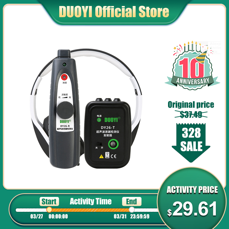 DUOYI DY26 Mini Ultrasonic Flaw Detectors Gas Handheld Portable Vacuum Sealing Leakage Tester Location Determine Leak Tester