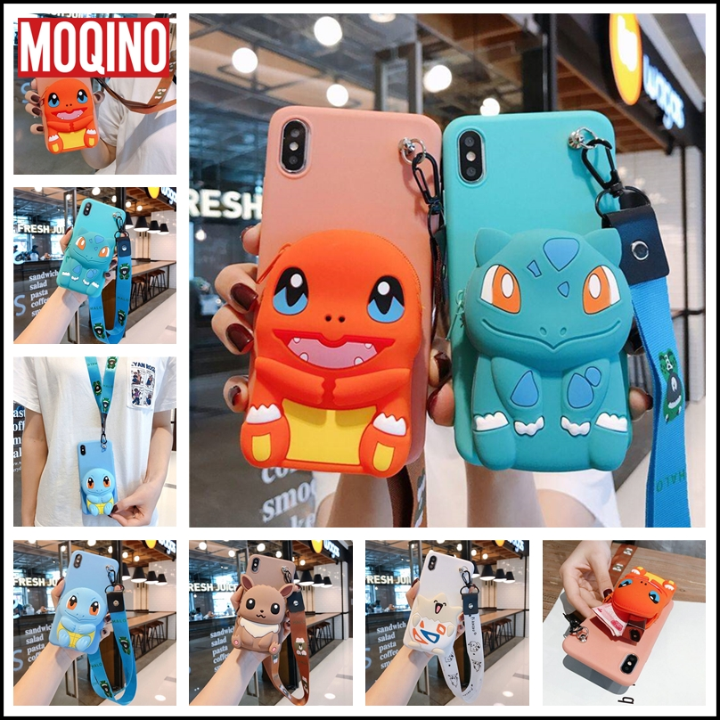 Wallet Charizard Squirtle Bulbasaur Soft TPU Case For Samsung S10 S7 S8 S9 Note 8 9 10 Plus A20 30 50 <font><b>70</b></font> 80 J4 J6 J8 <font><b>2018</b></font> Cover image