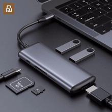 Многофункциональный конвертер Youpin hagiss Type C, двойной USB 3,0 адаптер для передачи данных для HDMI, SD/TF, Macbook, Samsung