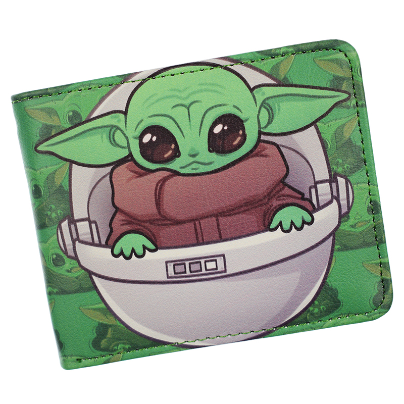 New Arrival Baby Yoda Wallet Star Wars Wallets The Mandalorian Cool PU Short Purse