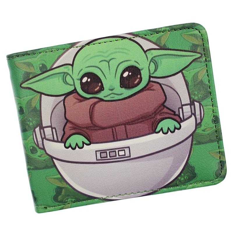 New Arrival Baby Yoda Wallet Star Wars Wallets The Mandalorian Cool PU Short Purse