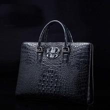 ourui новый продажа подлинной крокодил кожаный мужской сумка мужчины портфель бизнес мужчины сумки