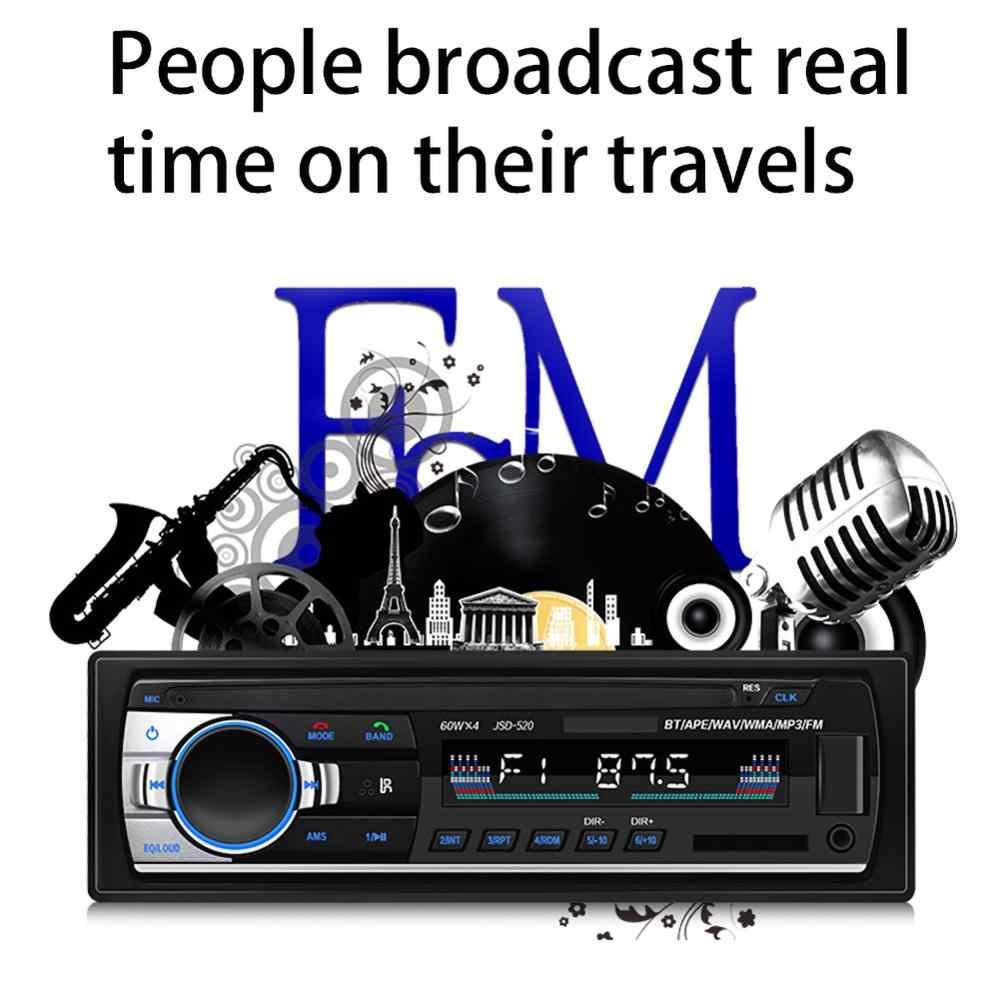 مشغل موسيقى MP3 سيارة ستيريو بلوتوث راديو السيارة 1Din 12 فولت USB Aux المدخلات TF بطاقة راديو تلقائي مع جهاز التحكم عن بعد الصوت ستيريو الموسيقى