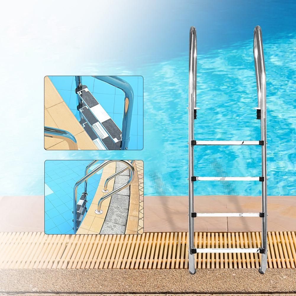 50x7.5x2.5cm Safety Swimming Pool Ladder Pedal Rung Steps Stainless Steel Replacement Anti Slip Ladder Swimming Pool Accessary