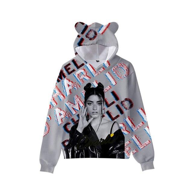 3D Print Charli D'Amelio Hoodies Boys/Girls Cat ears Hip hop Kpop Sweatshirts Hooded Autumn Winter Charli Damelio Merch Tops 1