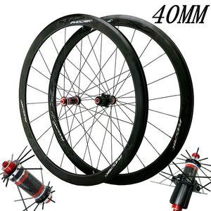 700C карбоновые колеса, дорожный велосипед, велосипедный светильник, карбоновые колеса, V/C тормоза 40 мм обод из нержавеющей стали с прямым тяг...