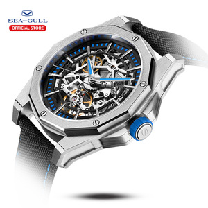 Image 2 - 2020新カモメ腕時計メンズ自動機械式中空視点機械式時計大型ダイヤル防水人格の腕時計