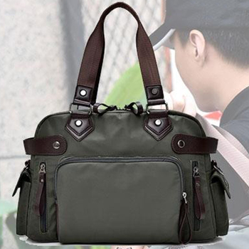 Mens Shoulder Bag Nylon Material British Casual Fashion School Style High Quality Multi-function Large Capacity Design