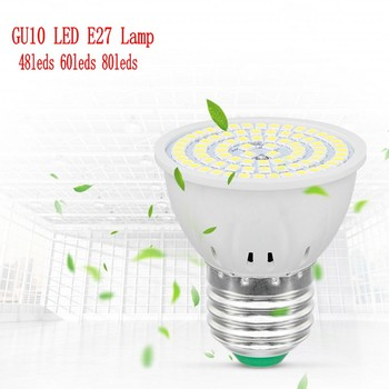 GU10 LED E27 Lamp E14 Spotlight Bulb 48 60 80leds lampara 220V GU 10 bombillas led MR16 Lampada Spot light B22 6W 8W 10W image