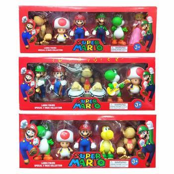 6 unids/set Super Mario Bros 3-7cm de PVC figuras de acción de...