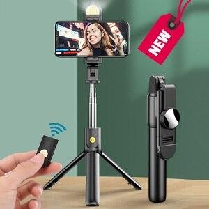 Image 5 - 새로운 무선 블루투스 Selfie 스틱 삼각대와 원격 셔터 접이식 삼각대 및 Monopods 유니버설 아이폰 안드로이드 폰