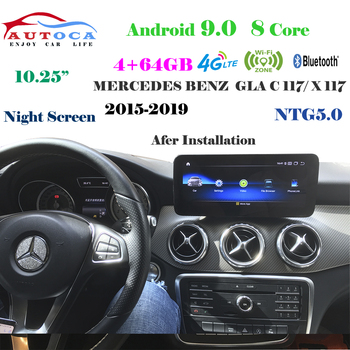4G 10.25 Android 10 Display For MERCEDES BENZ CLA C117/ X117 2015-2019 Navigation Radio Stereo Dash Multimedia Player Carply image