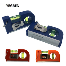 8.5cm MINI Spirit Level Ruler Woodworking Measurement Tool with Level Bubble Magnetic Base Level Meter Back Clip Aluminum Alloy